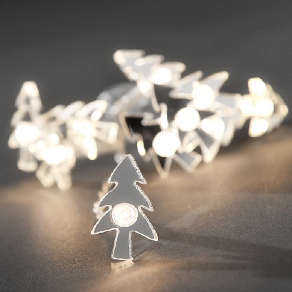 LED Deko Lichterkette 10er Tannenbaum warmweiß innen 3186-103