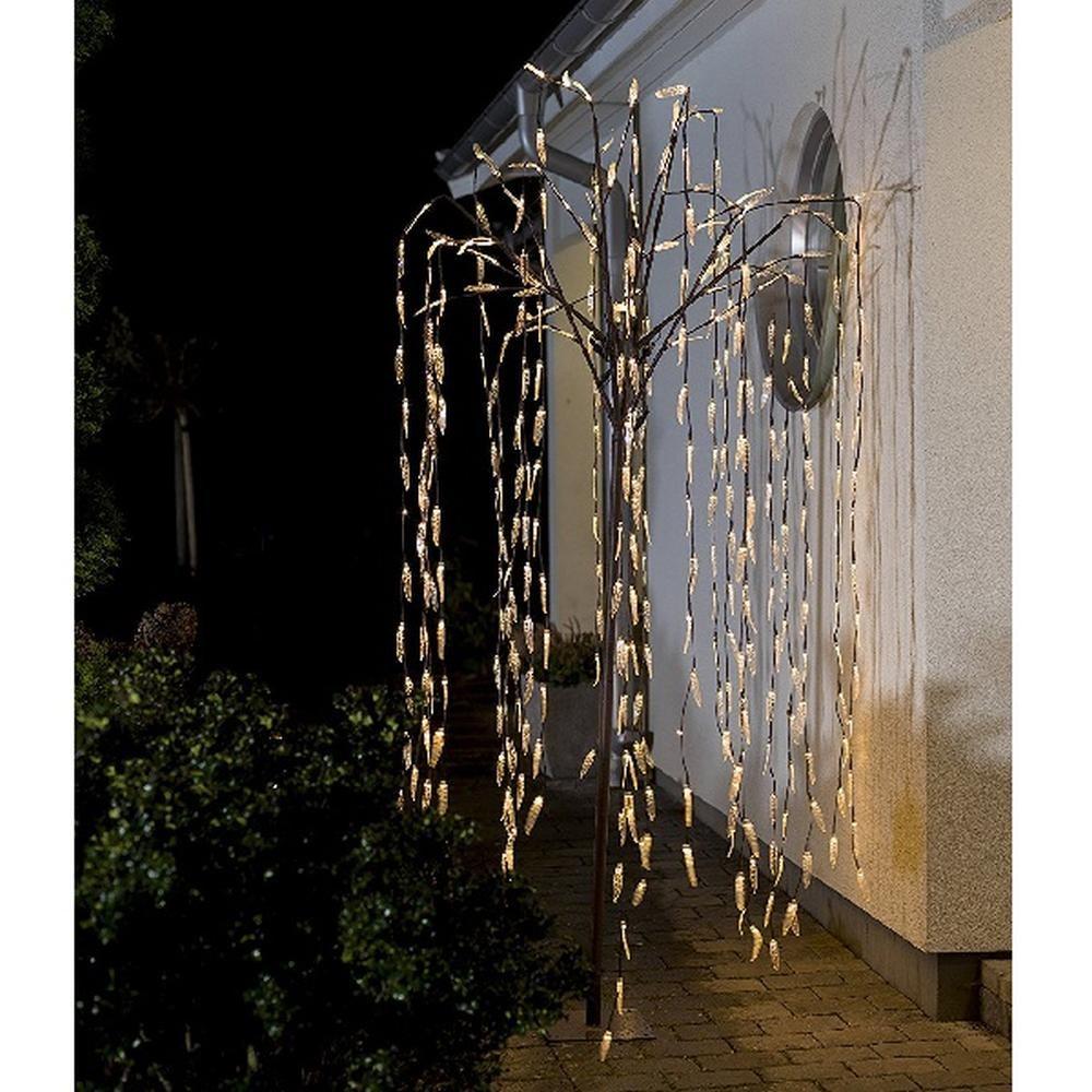 LED Trauerweide 384er warmweiß transparente Blätter 2,5m 3376-600
