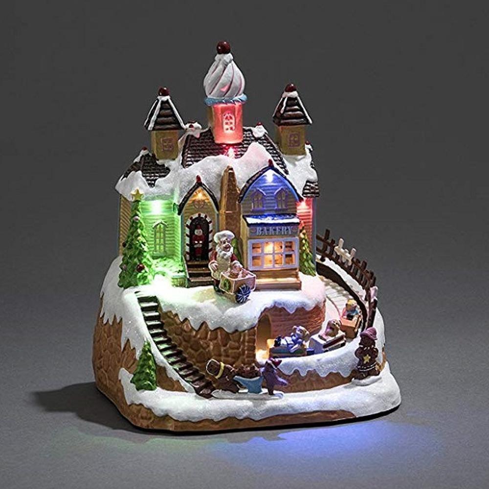 LED Szenerie Bäckerei mit Spielzeugautos und Kindern innen Konstsmide 3442-000