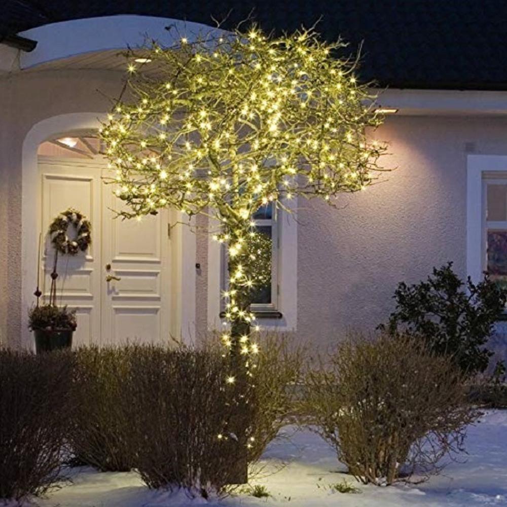 Micro LED Lichterkette 120er davon15 funkelnde warmweiß/schwarz aussen 3612-140