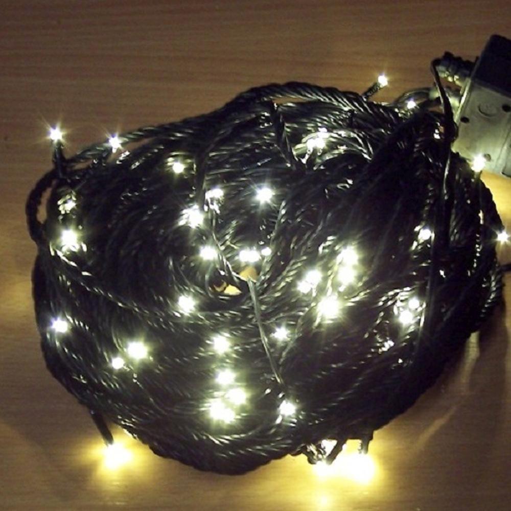 Micro LED Lichterkette 11,85m 80er warmweiß 8 Funktionen außen 3614-110