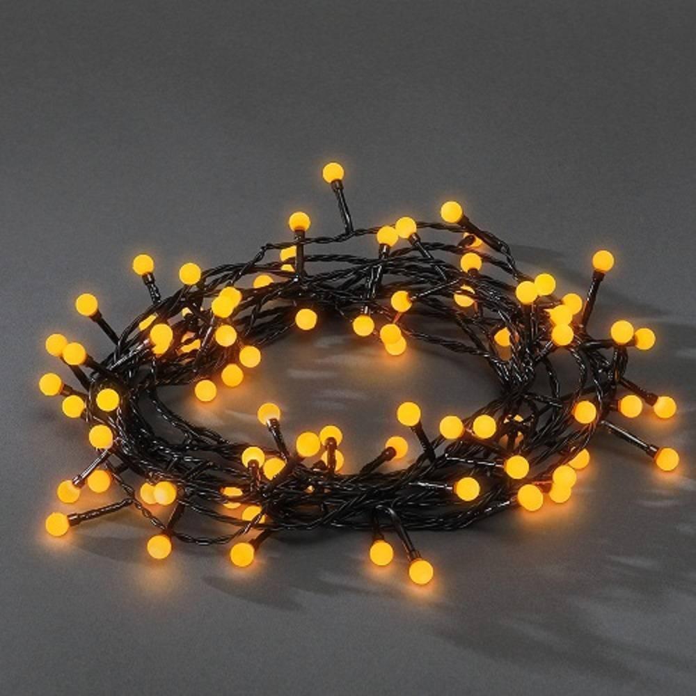LED Globe-Lichterkette 80er gelb aussen 6,32m Konstsmide 3691-007