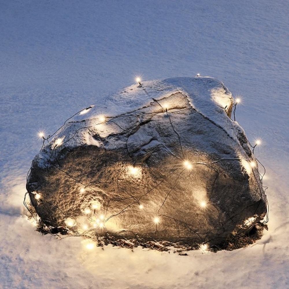 LED Lichternetz 32er warmweiß / schwarz 1x1m Konstsmide außen 3748-100