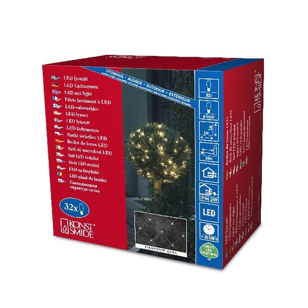 LED Lichternetz 32er warmweiß / transparent 1x1m Konstsmide 3748-103