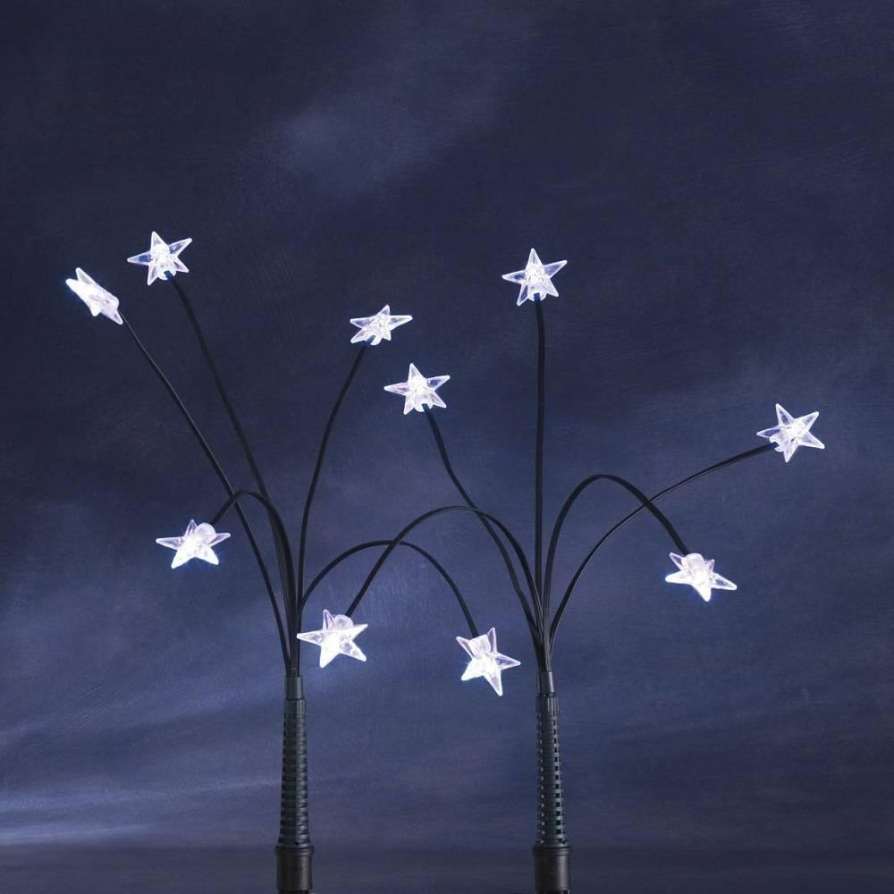 LED-Sternenstäbe Leuchtstäbe kaltweiß 25er außen Konstsmide 4053-200