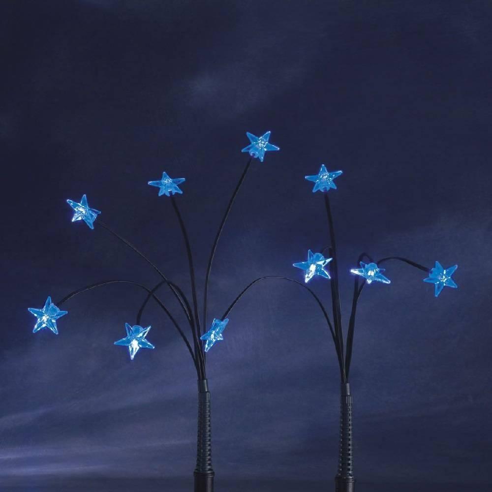 LED-Sternenstäbe blau 25er Leuchtstäbe Konstsmide 4053-400