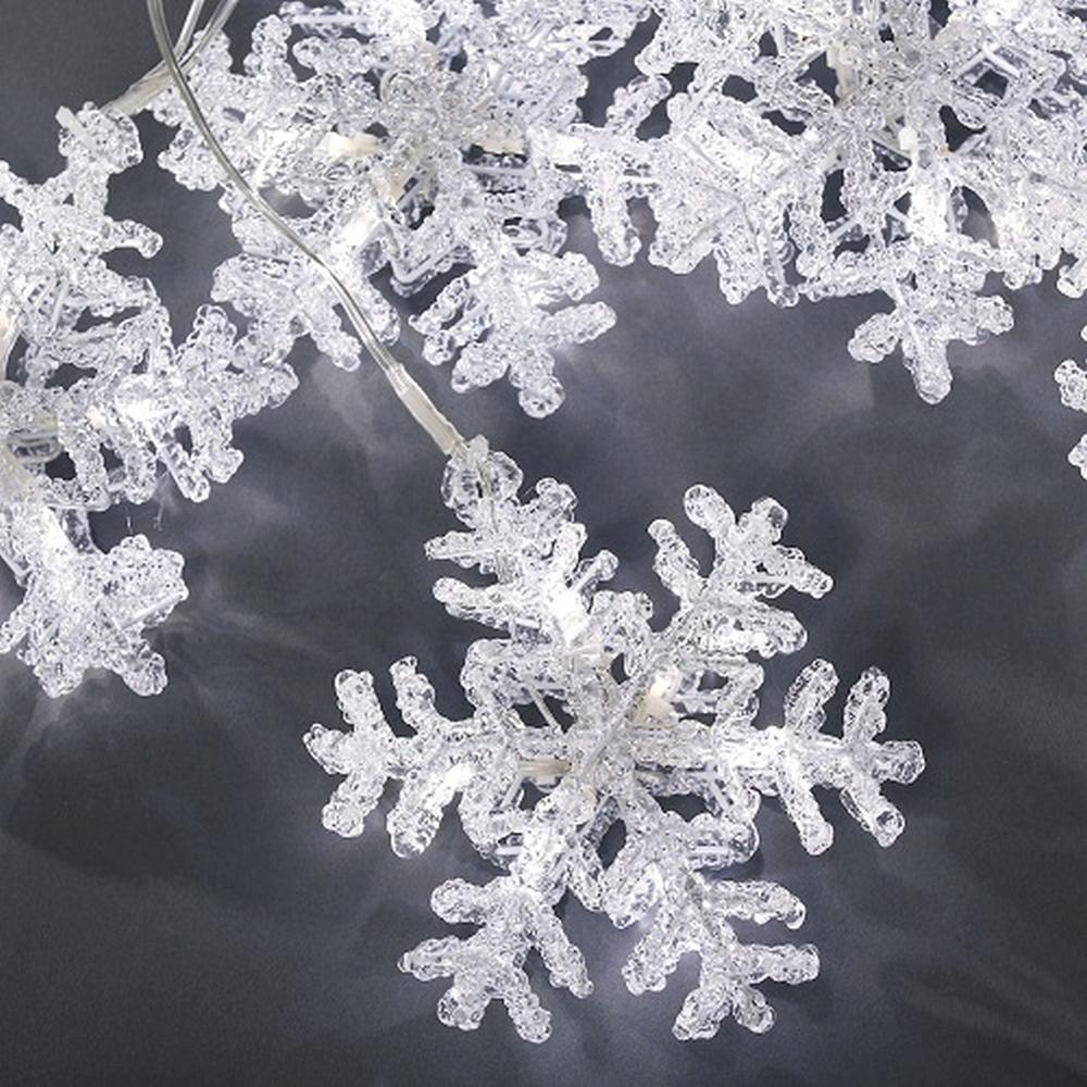 LED Acryl Lichtervorhang Schneeflocke 5er kaltweiß Konstsmide 4436-203