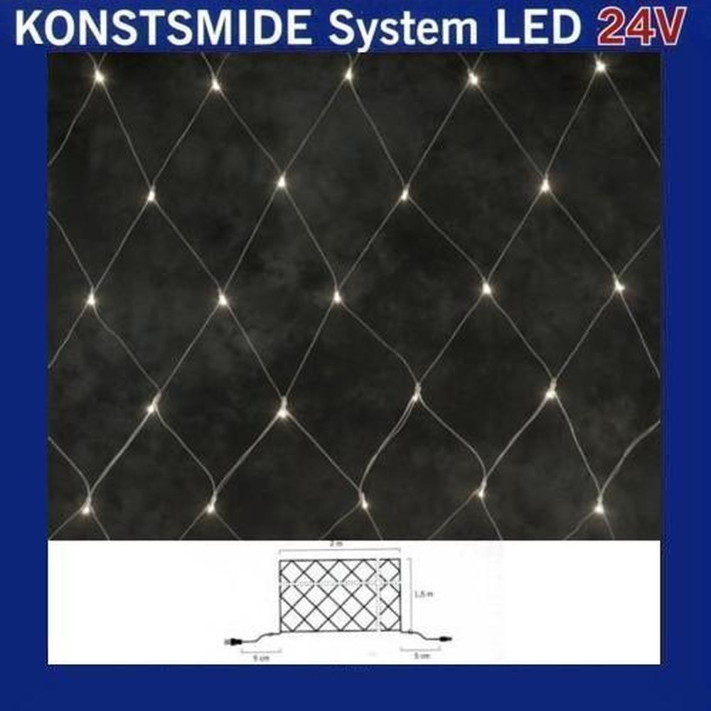 LED Lichternetz 2x1,5m 100er warmweiß Konstsmide 24V System 4613-103