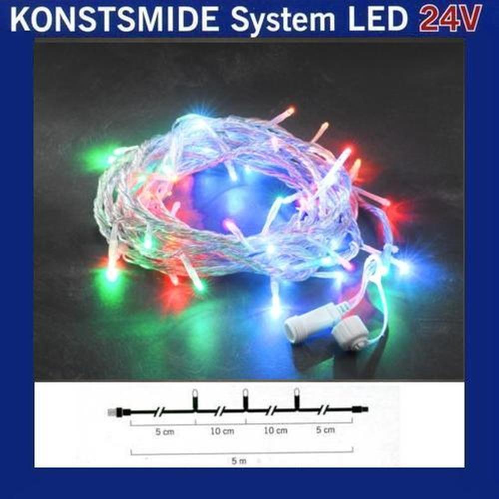 LED Lichterkette 5m 50er bunt Konstsmide 24V System 4650-503