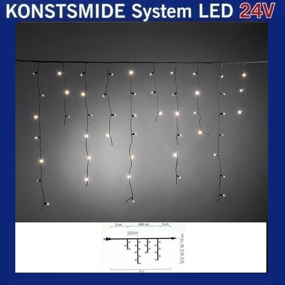 LED Eisregenlichterkette 2,5m 100er warmweiß Hightech System 4681-117