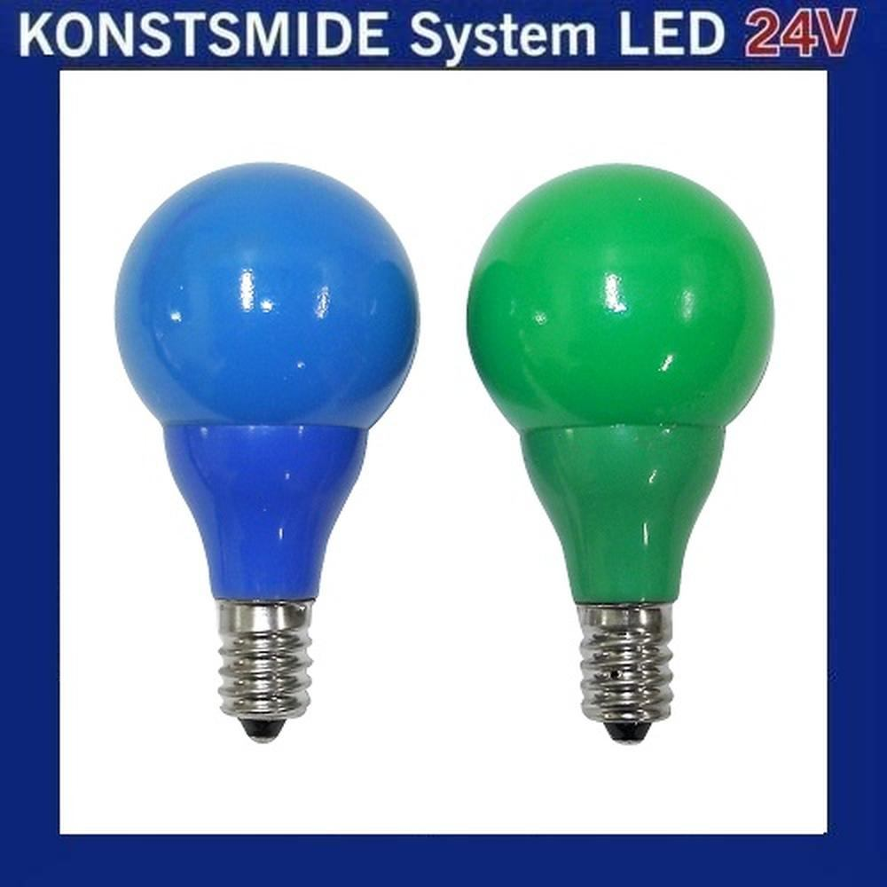 LED Glühbirne Glühlampe 24V E10 0,48W blau / grün 5686-420