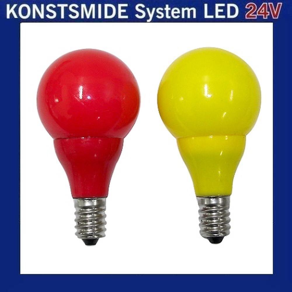 LED Glühbirne Glühlampe 24V E10 0,48W rot / gelb 5686-520