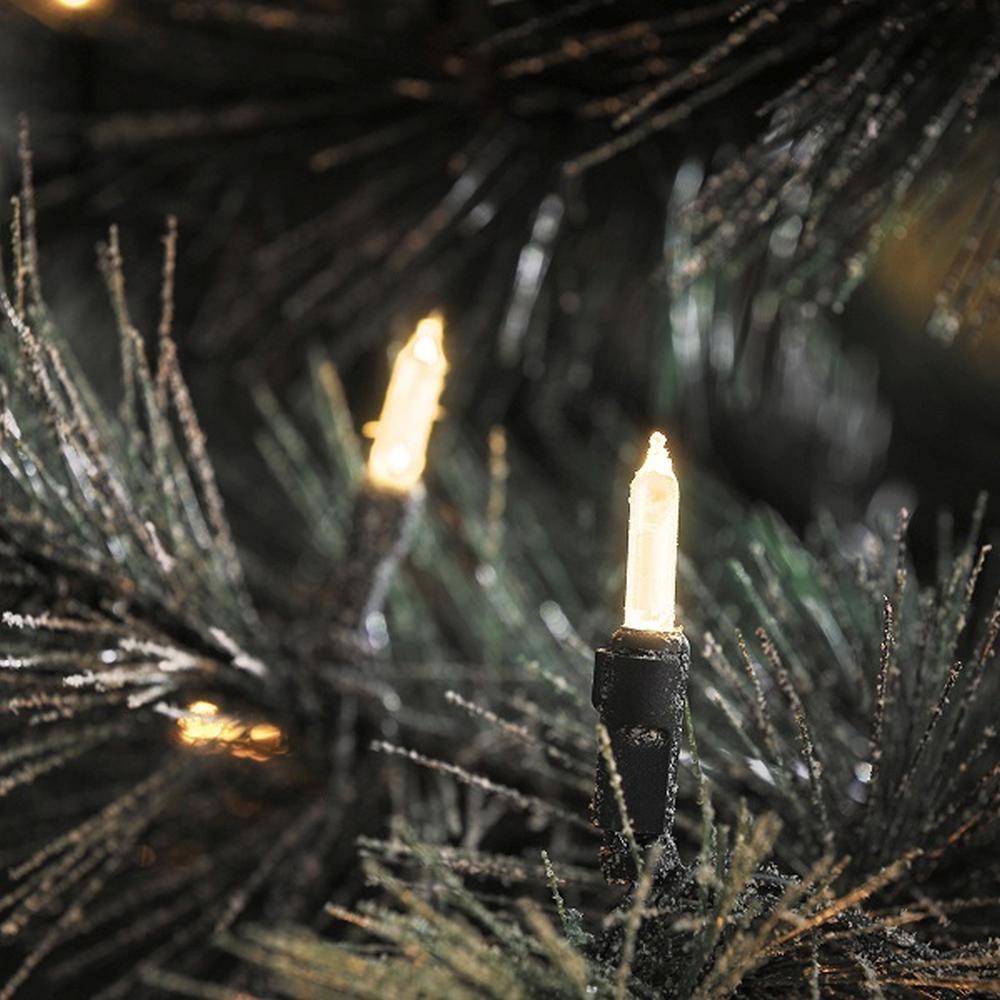 LED Mini-Lichterkette 120er warmweiß / grün aussen Konstsmide 6060-100