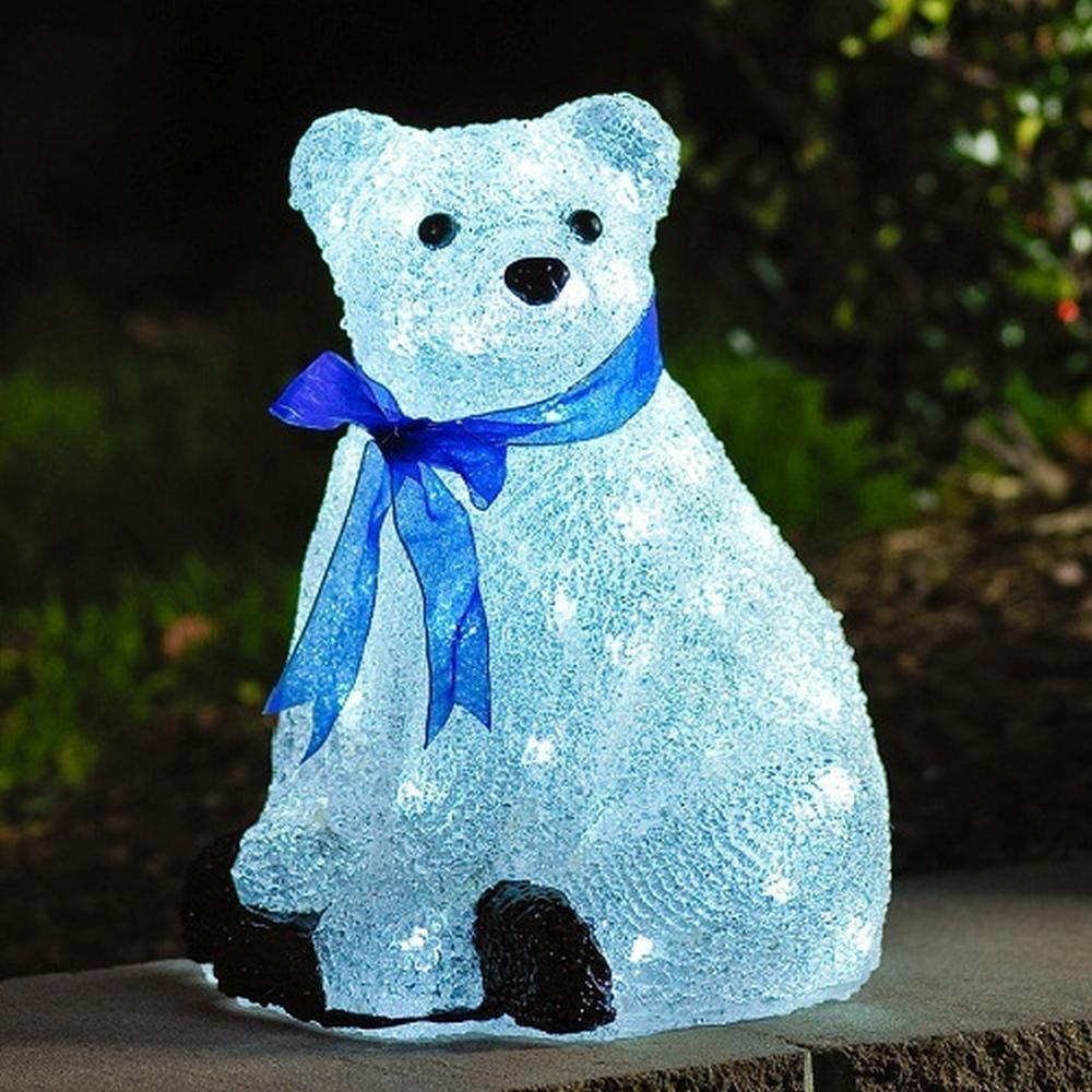 LED Acryl Eisbär sitzend 40 Dioden 2,4W Konstsmide 6123-203