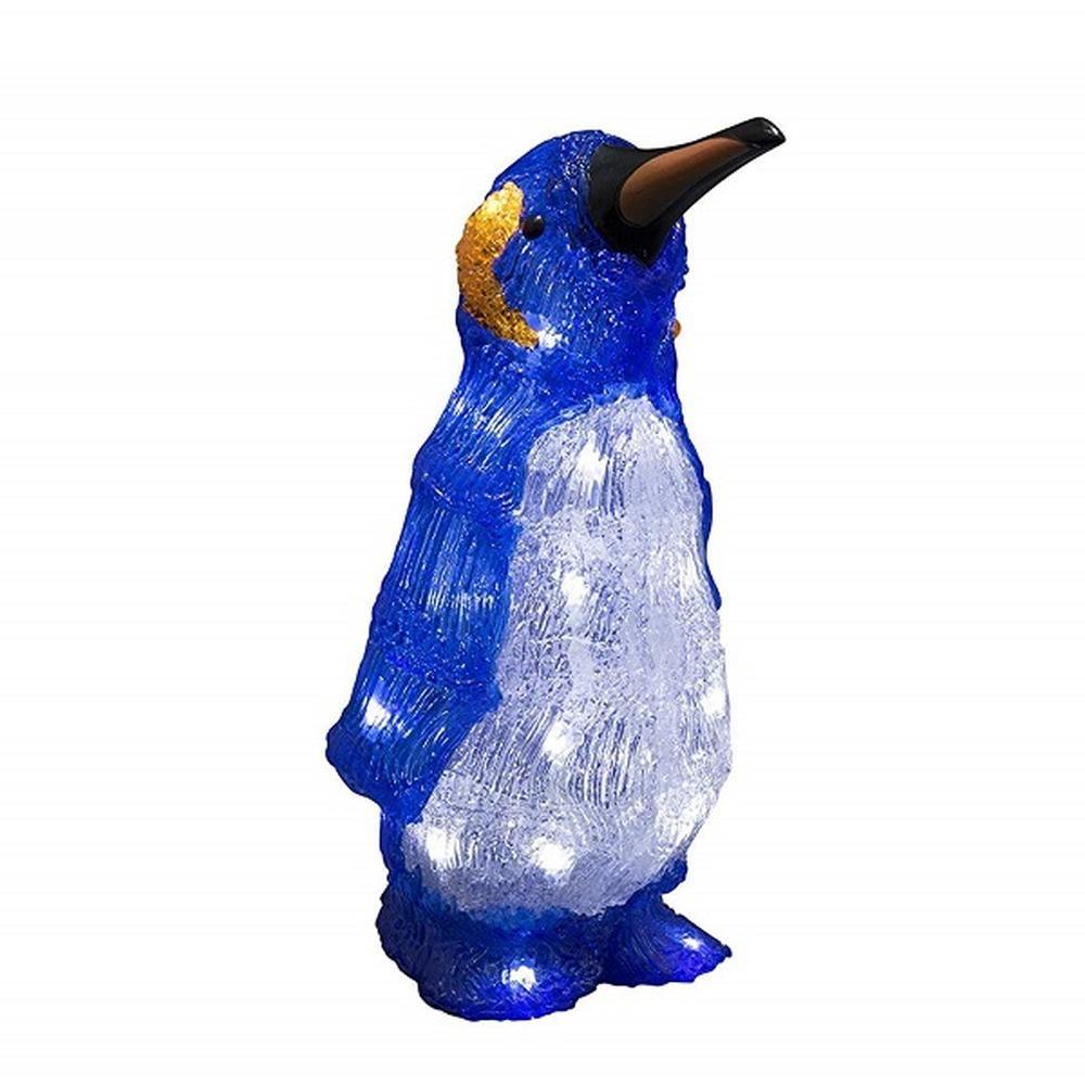 LED Acryl Pinguin 32cm 24 Dioden Batterie Timer Konstsmide außen 6142-203