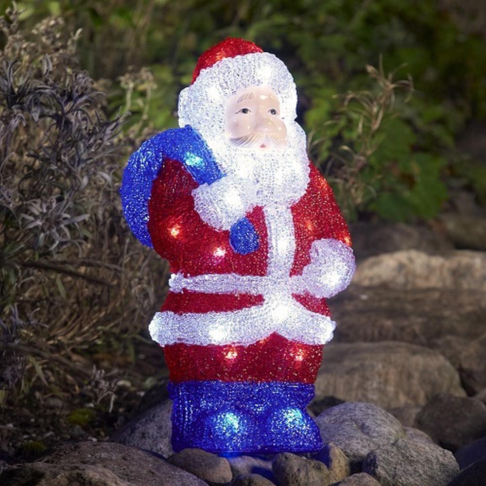 LED Acryl Weihnachtsmann 36x19cm 48 Dioden außen Konstsmide 6153-203