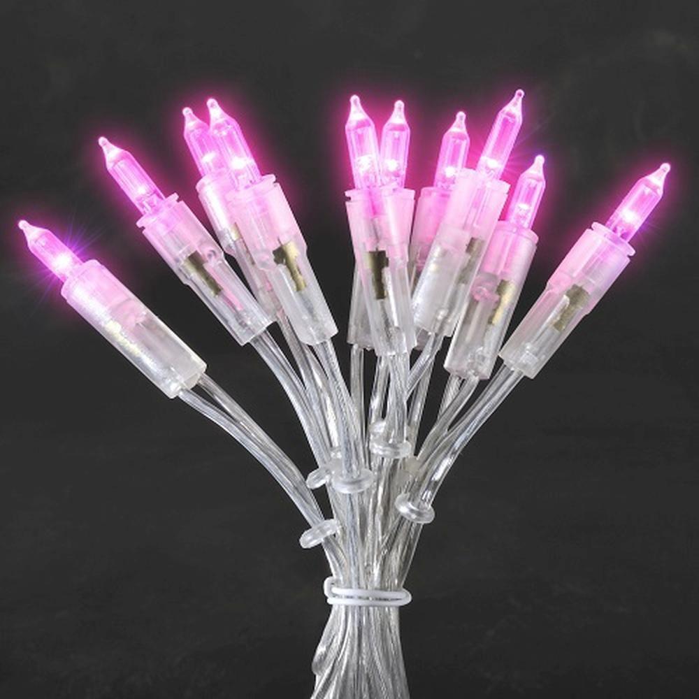 LED Mini-Lichterkette 35er rosa 5,10m Konstsmide 6302-343