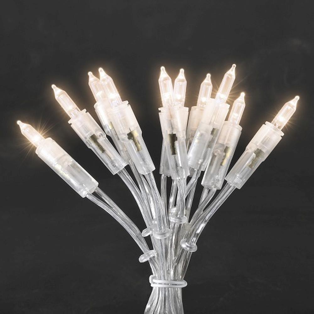 LED Mini-Lichterkette 50er warmweiß 7,35m ein Strang Konstsmide 6303-123