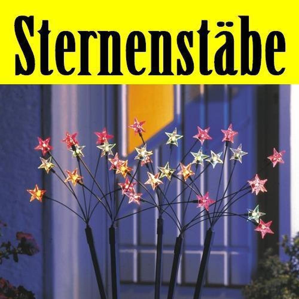 Sternenstäbe 5er Set mit 30 Birnen bunt Konstsmide P4050-500