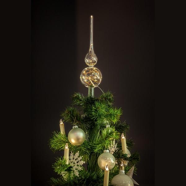 Lumix tree topper klar christbaumspitze beleuchtet warmwei krinner 76030 xmas ebay - Christbaumspitze beleuchtet ...