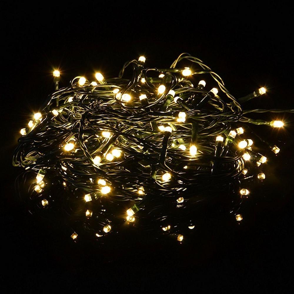 LED Timer Lichterkette FB dimmbar 40er warmweiß / grün 3,9m außen BA11203