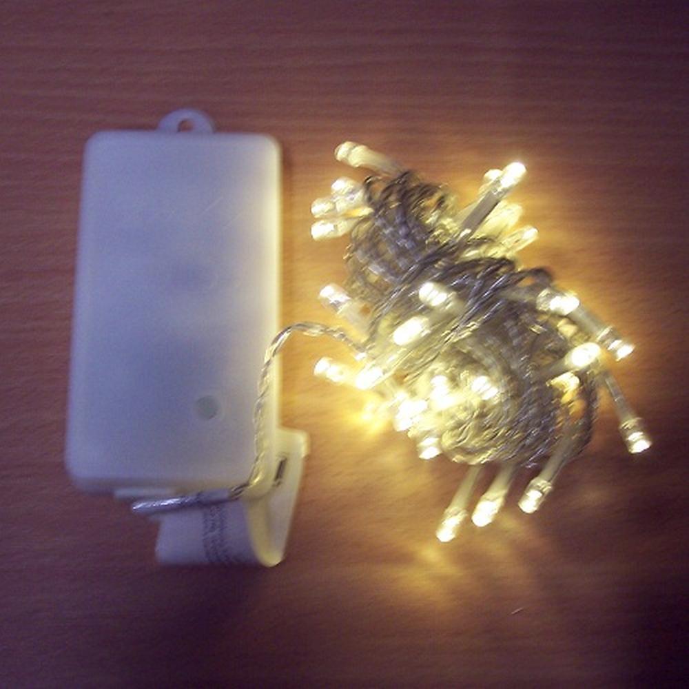 50er LED Lichterkette 4,9m warmweiß Batterie / Timer außen BA11464