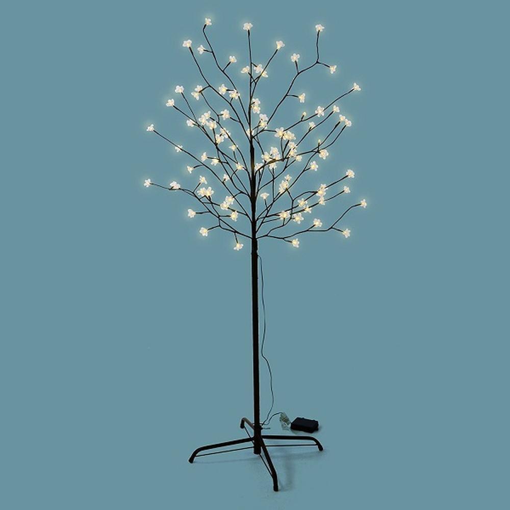 LED Lichterbaum 96 Blüten 150cm Batterie Timer außen warmweiß BA11635