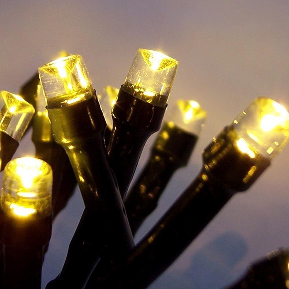 LED Lichterkette 100er warmweiß Kabel grün 10m aussen BA11694