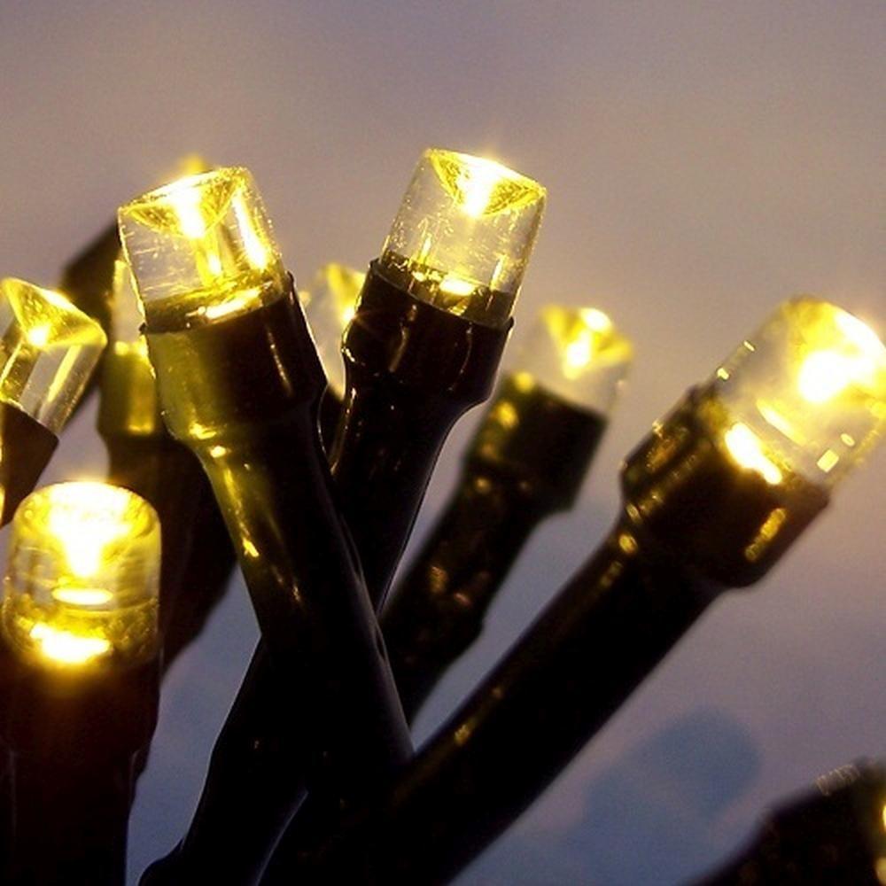 LED Lichterkette 200er warmweiß Kabel grün 18m außen BA11699