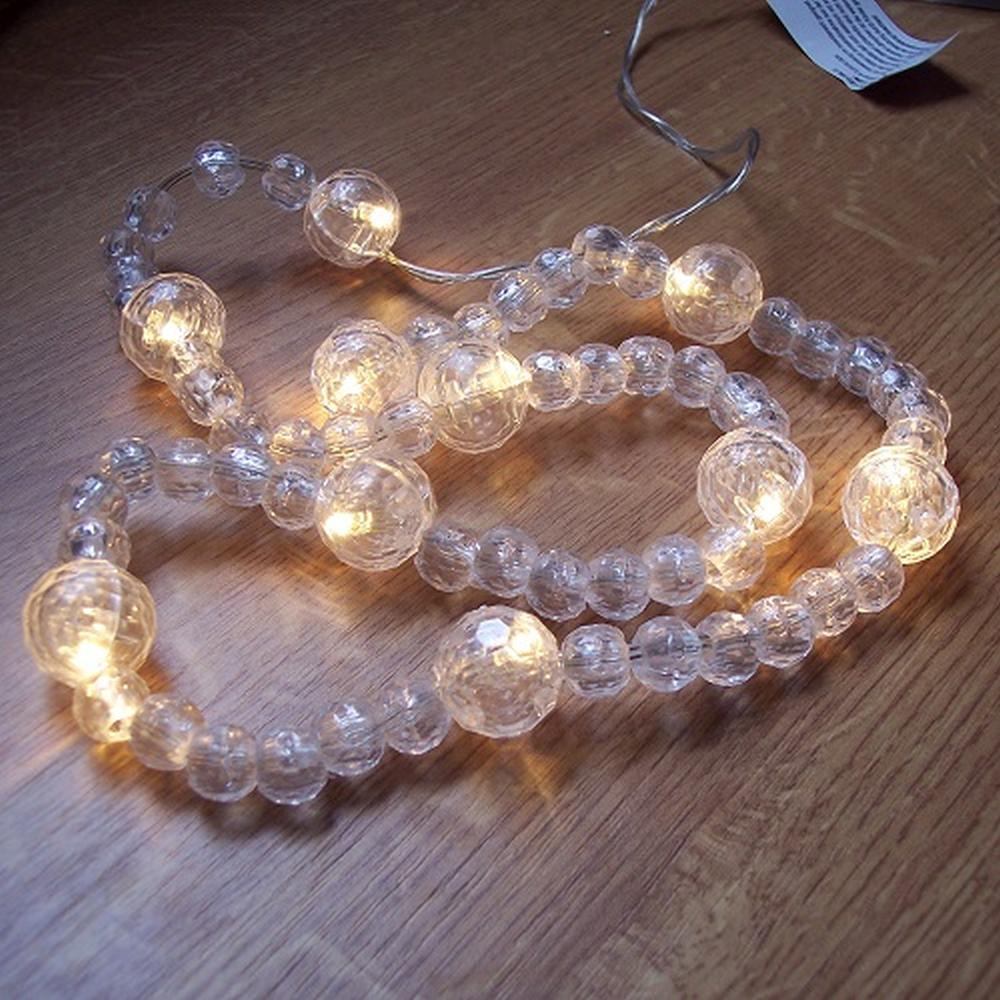 Deko LED Perlen-Lichterkette warmweiß 10er Batterie innen BI11311
