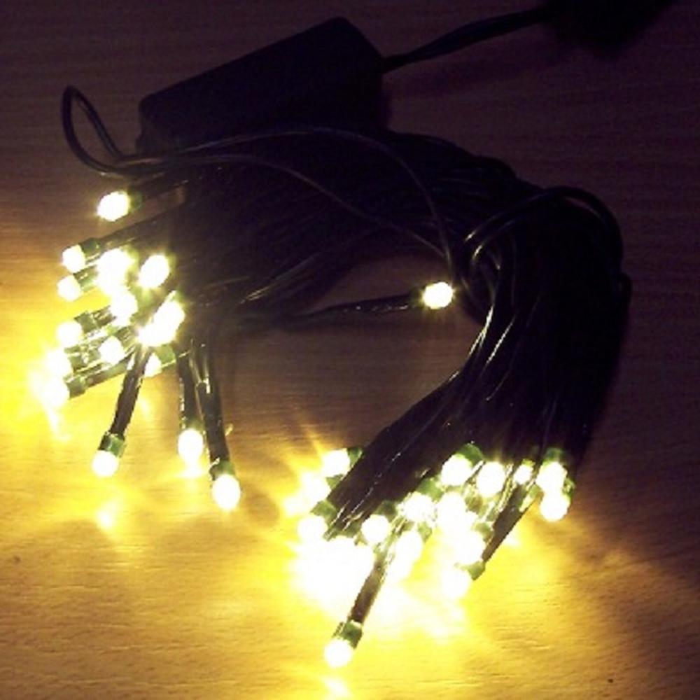 50er LED Lichterkette mit Schalter warmweiß BI11497