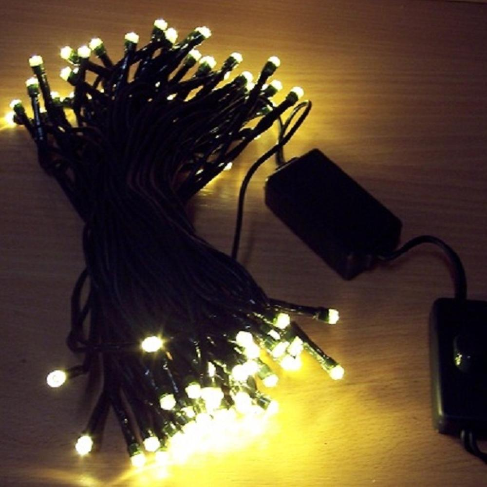 100er LED Lichterkette mit Schalter warmweiß BI11499