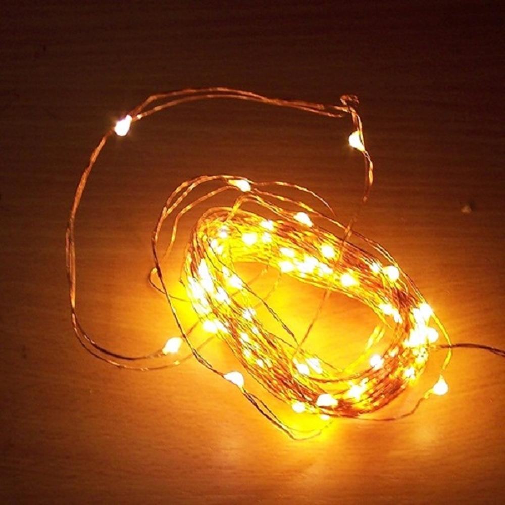 100er LED Lichterkette Kupferdraht warmweiß 6//18h Timer innen BI11562 xmas