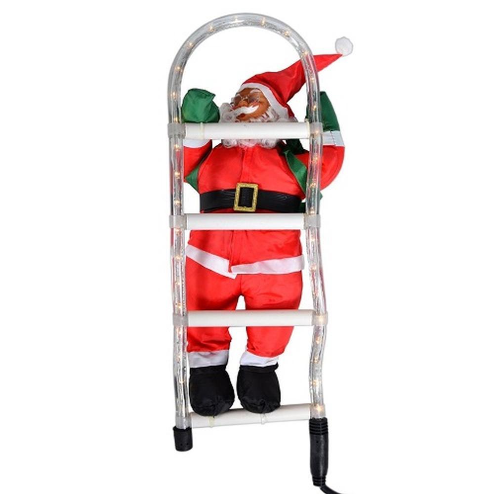 weihnachtsmann an leiter lichtschlauch santa claus xa10160. Black Bedroom Furniture Sets. Home Design Ideas