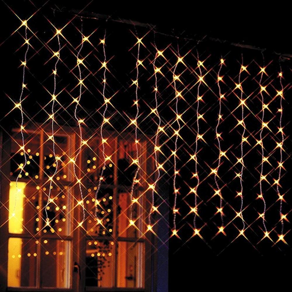 120er Micro Lichtervorhang 1,1x1m Kabel weiss innen XI11575