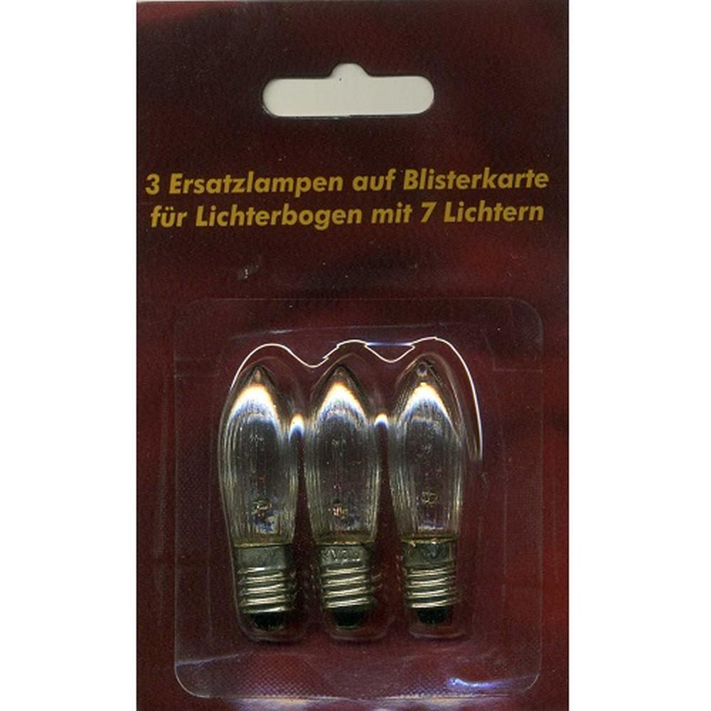 Ersatzlampen 3er 34V/3W E10 für 7er Lichterbogen innen XI11956