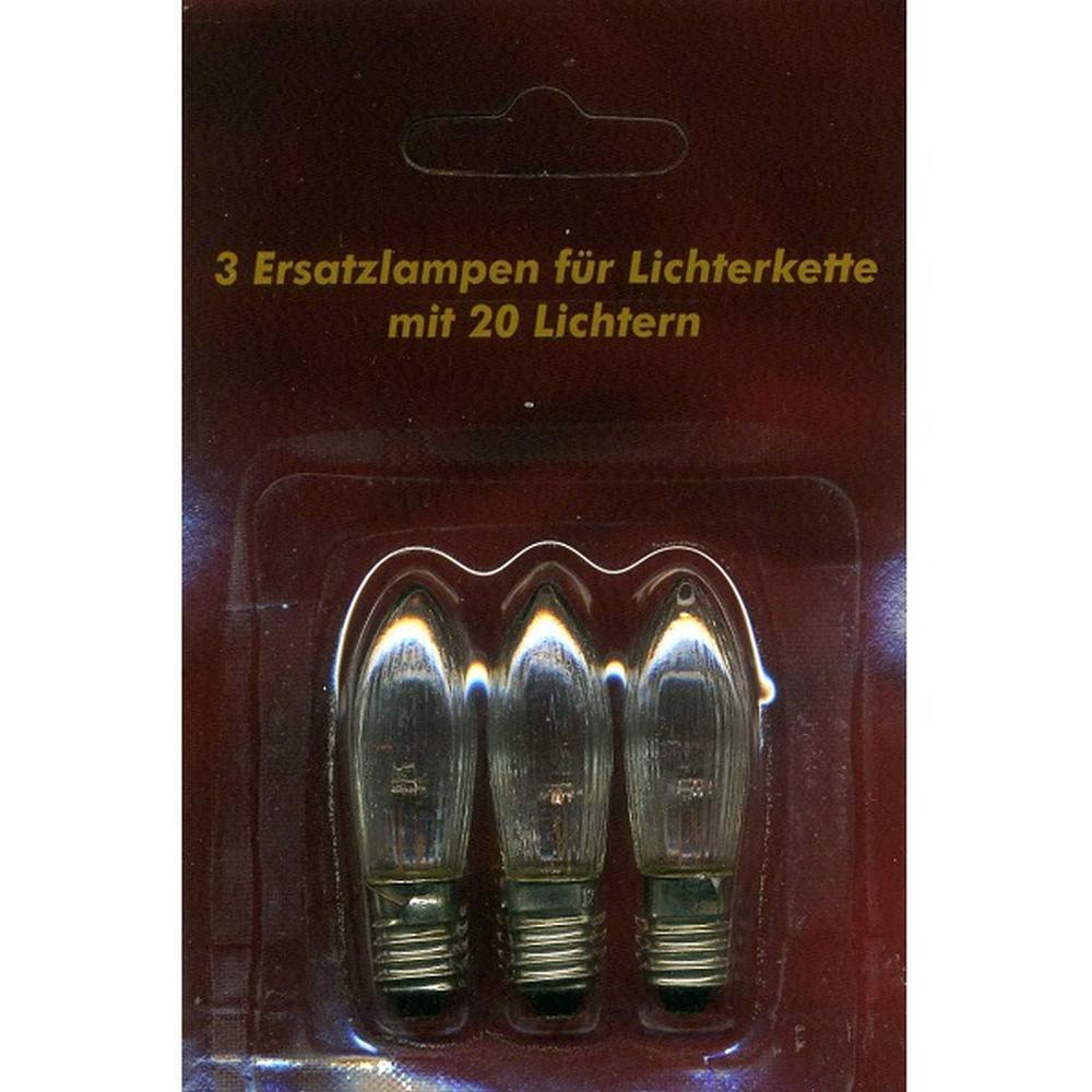 Ersatzlampen 3er 12V/2W E10 für 20er Lichterkette innen XI11959