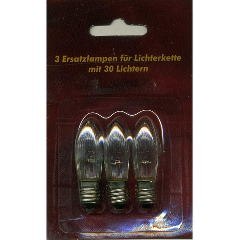 Ersatzlampen 3er 8V/1,5W E10 für 30er Lichterkette innen XI11968