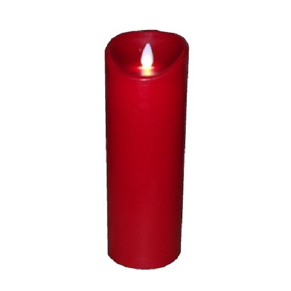 SOMPEX 35802 Flame LED - Echtwachs Kerze rot 8x23cm