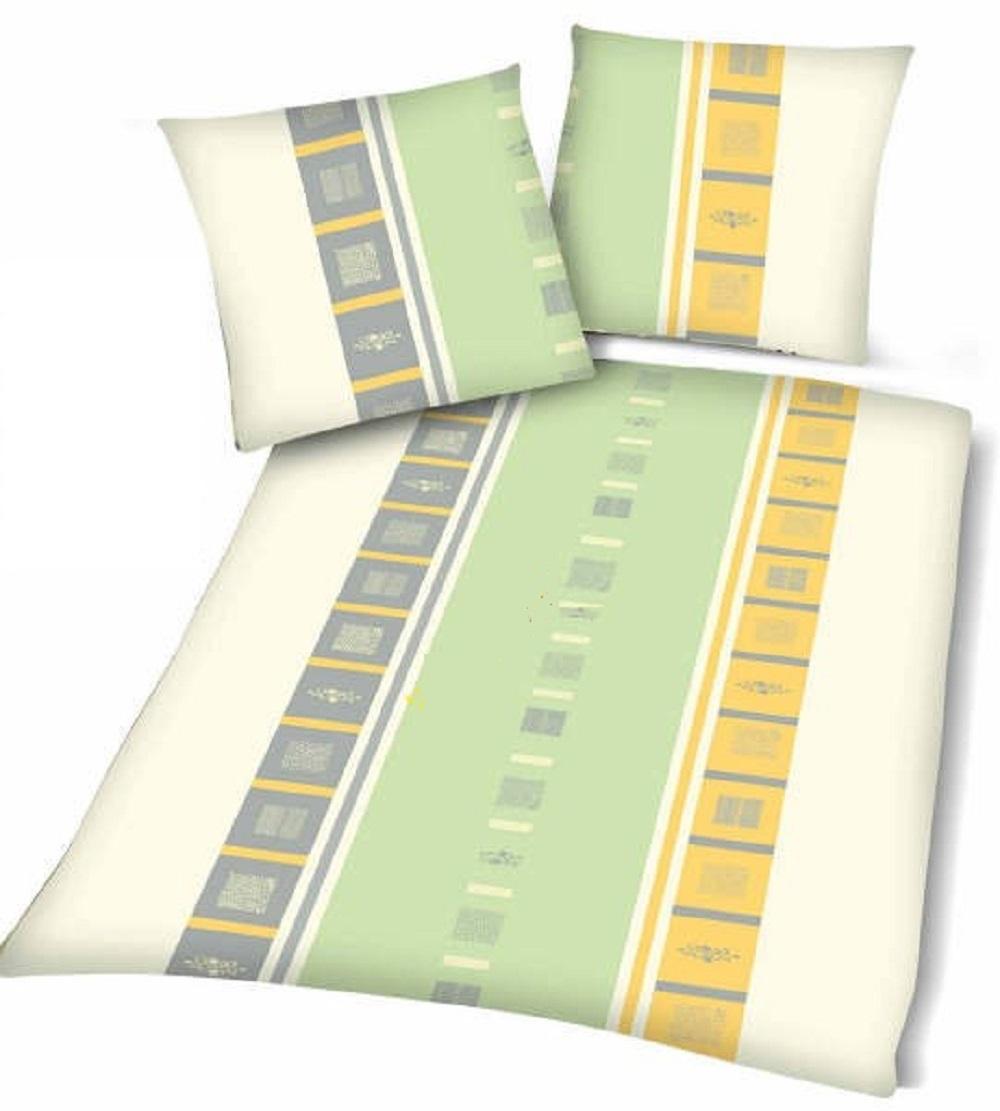 Microfaser Bettwäsche 135 x 200 cm Yellow Lines