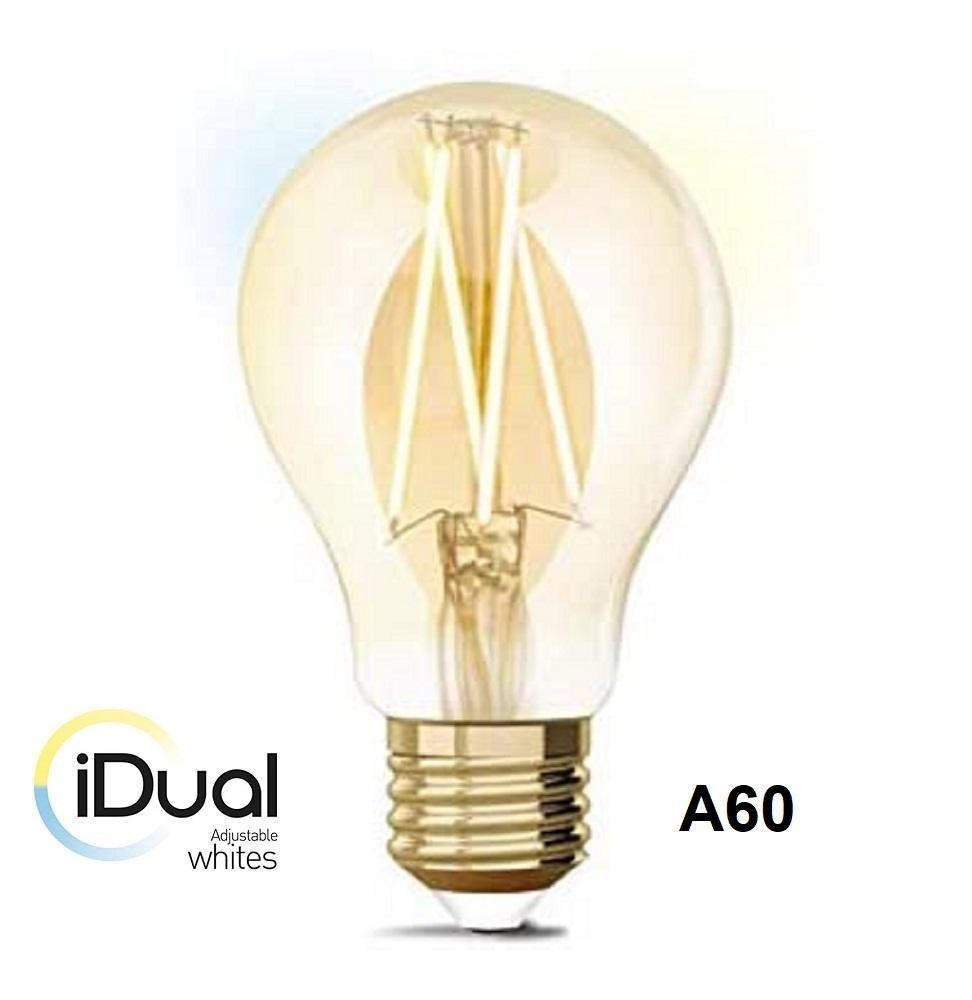iDual LED Leuchtmittel Filament E27 A60 amber dimmbar 806lm 9W exkl. FB