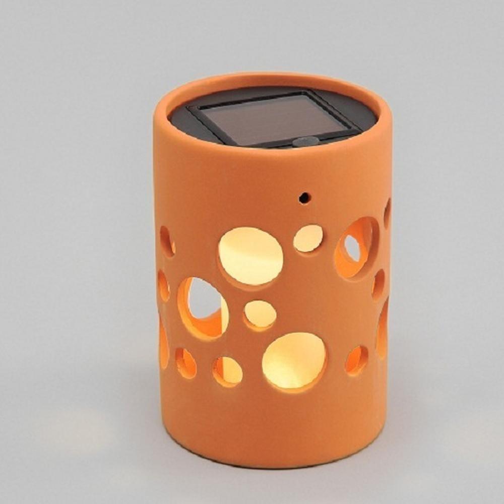 LED Solarlampe Genova Ton gerade terra Solarleuchte 7800-900